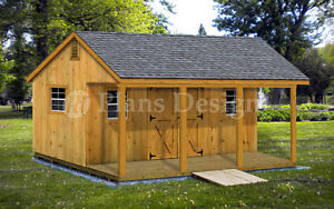 Details About 14 X 20 Storage Shed Home Office Cabin Or Cottage Building Plans P51420