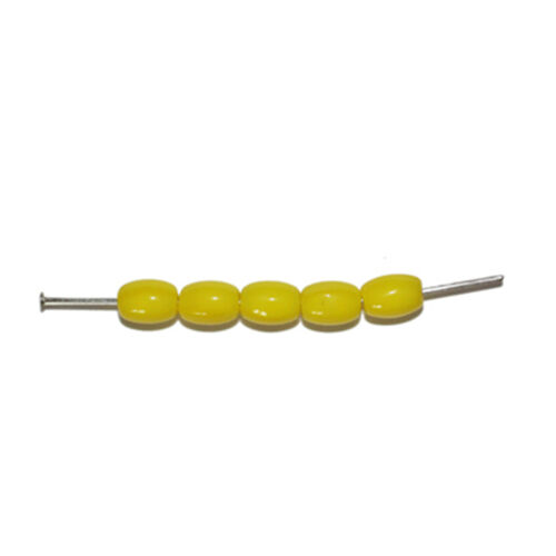 Yellow Barrel Czech Pressed Glass Beads 5x7mm pack of 60