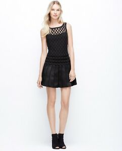 NWT Ann Taylor Pleated Skirt Dotted Sheer Bodice Little Black Dress ... 2eb45139a