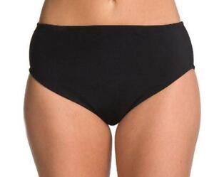 92162221d49 24th   Ocean Women s Plus Solid High Waist Bikini Bottom Black ...