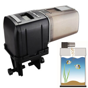 Programmable mini auto fish feeder aquarium tank automatic for Fish food dispenser