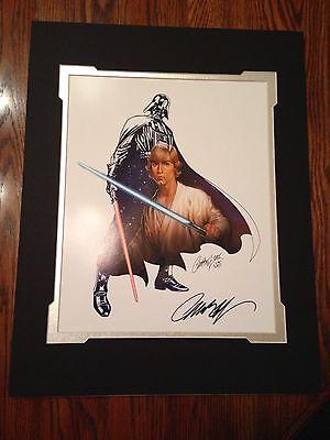 Disney Star Wars DARTH VADER /& LUKE SKYWALKER Print SIGNED J Scott Campbell