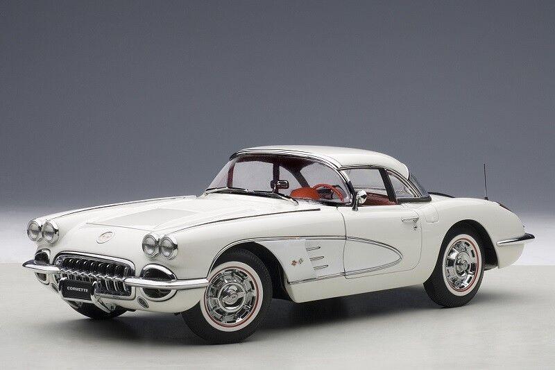 AUTOART 71147 - 1 18 CHEVROLET Corvette (1958) - Snowcrest blanc-Neuf
