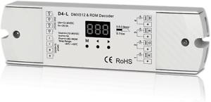 4CH 5A//CH tension constante DMX512 /& RDM Décodeur RGBW Contrôleur 4 canaux 12-24 V