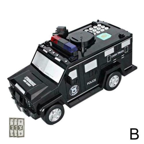 Fingerprint Password Cash Truck Car Piggy Bank Kid Bank Paper Money Box G5F2