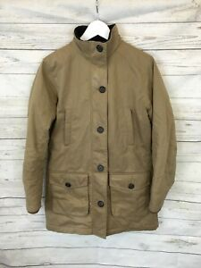 Women-039-s-BARBOUR-quilted-coat-uk10-Beige-Great-condition
