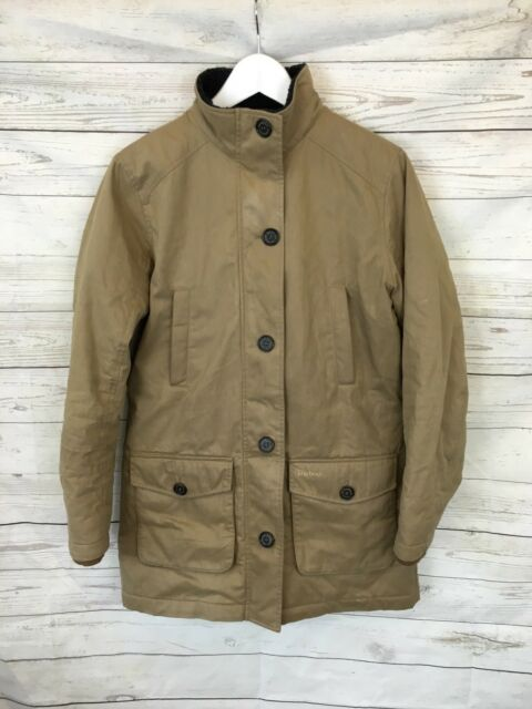 Women's BARBOUR quilted coat-uk10-Beige-Great condition