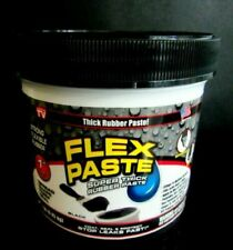 Flex Seal Flex Paste Pfsblkr16 Black Super Thick Rubber Paste 1 Lb Jar 3333069