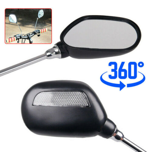1pair Handlebar Rear View Mirror For Electric Bicycle,MTB,road Bike 360° Adjust
