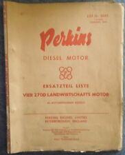 Perkins Motoren ET-Liste Vier 270 D Landwirtschafts Motor
