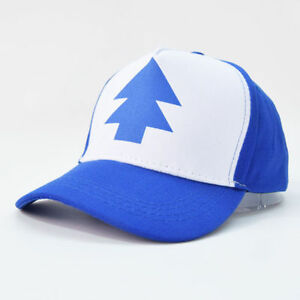 Dipper Gravity Falls Baseball Cap Curved Bill  BLUE PINE TREE Hat ... 44cd8f90869