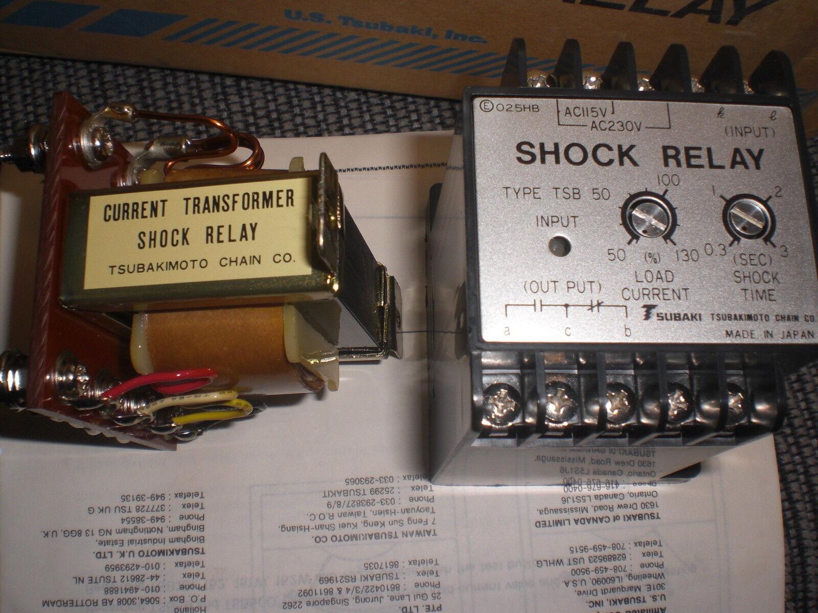 TSB50COM Tsubaki Shock Relay & Current Transformer AC 115/230v