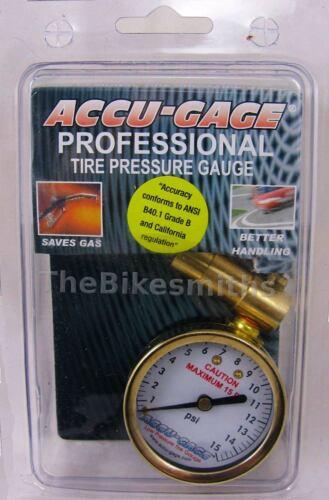 Meiser Accu-Gauge 0-15psi PRESTA Valve Low PSI Tire Gauge Dial Gage Fat Bike