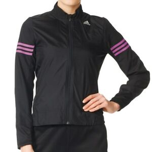 Details about Ladies Womens New Adidas Response Running Wind Jacket Tracksuit Top Black