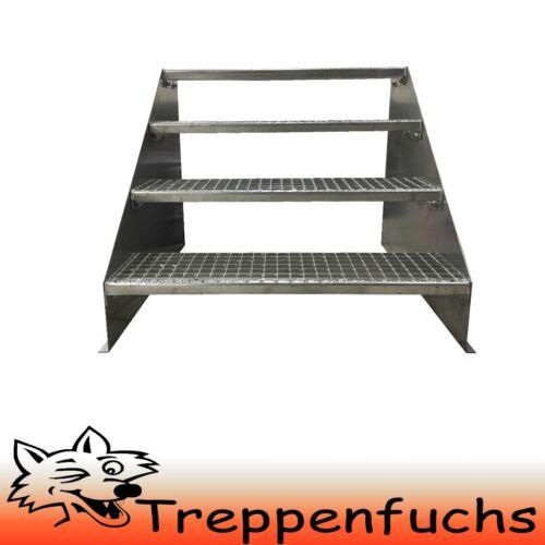 4 Stufen Standtreppe Stahltreppe freistehend Breite 70cm Höhe 84cm verzinkt