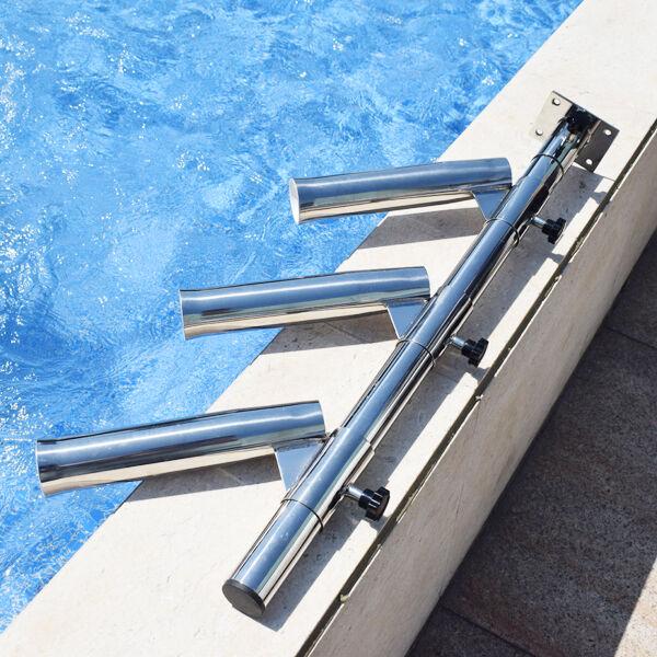 Ajustable Soporte árbol triple dispy barra ajusta las pistas de acero herramienta de pesca bien
