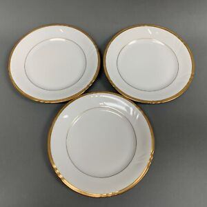 Royal-Heidelberg-Winterling-Salad-Plates-7-5-8-034-White-with-Gold-Trim-Lot-of-3