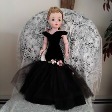 Madame Alexander 1956 Rare Cissy in Black Formal Gown