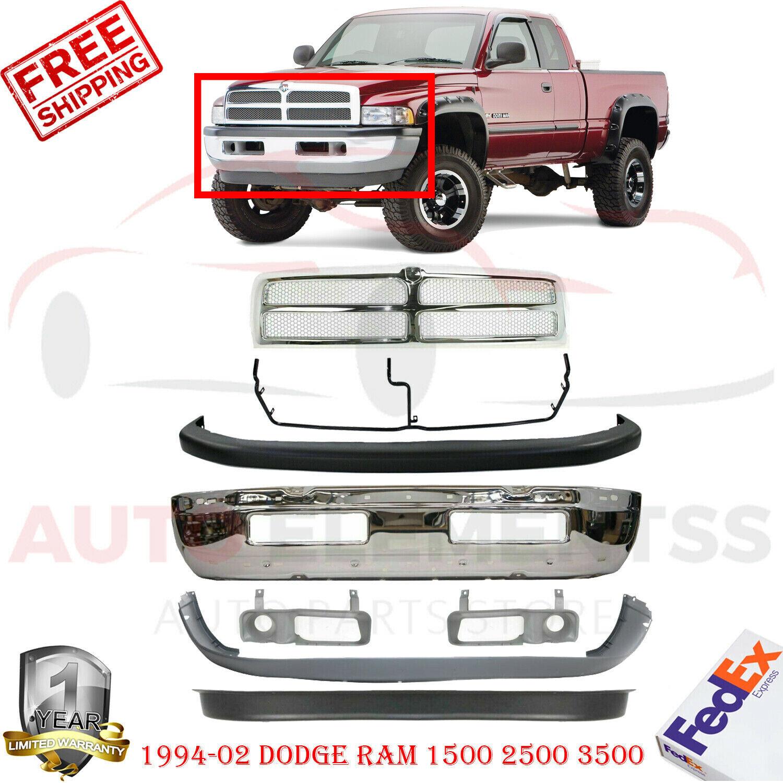 NEW Upper /& Lower Bumper Cover /& Valance for 1994-2001 Dodge Ram 1500 2500 3500