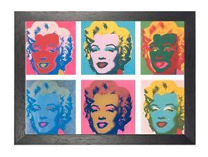 Andy-Warhol-Marilyn-Monroe-X6-COLORE-FACCE-Foto-riproduzione-IMMAGINE-POSTER