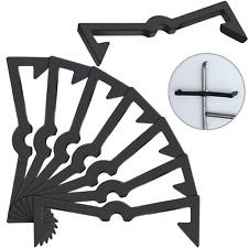 Pegboard Hook Locks Black Plastic Peg Hook Fixer Peg Board Hook Accessories Pegb