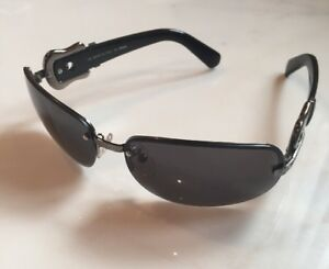 Image is loading Gorgeous-Fendi-Black-And-Dark-Silvertone-Sunglasses-New- 2359ec4bf021