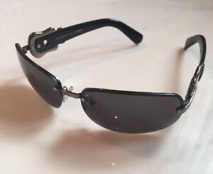 Image is loading Gorgeous-Fendi-Black-And-Dark-Silvertone-Sunglasses-New- 2359ec4bf021