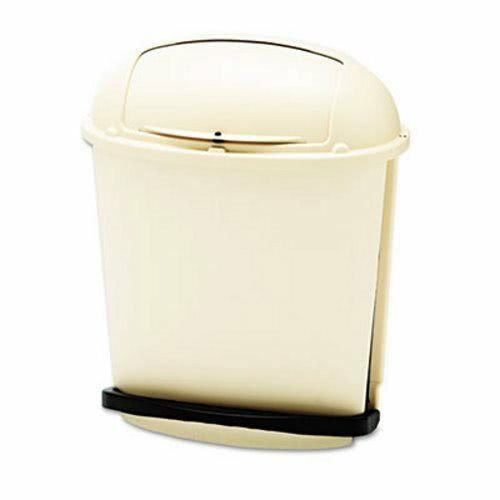 Rubbermaid 6177 Pedal Rolltop 14-1 2 Gallon Receptacle, Beige (RCP617700BG)