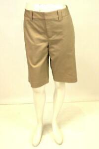 NEW-womens-brown-BANANA-REPUBLIC-martin-fit-chino-shorts-knee-length-casual-L-12
