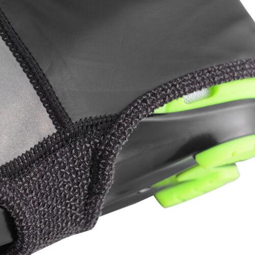 ROCKBROS Cycling Fleece Shoes Cover Waterproof Zipper Reflective Overshoes