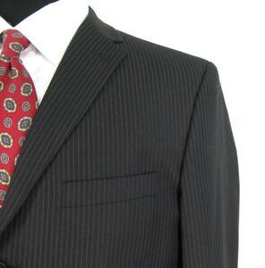 Billy-London-Blazer-Suit-Jacket-42R-Black-Pinstripe-All-Season-Sport-Coat-NWOT