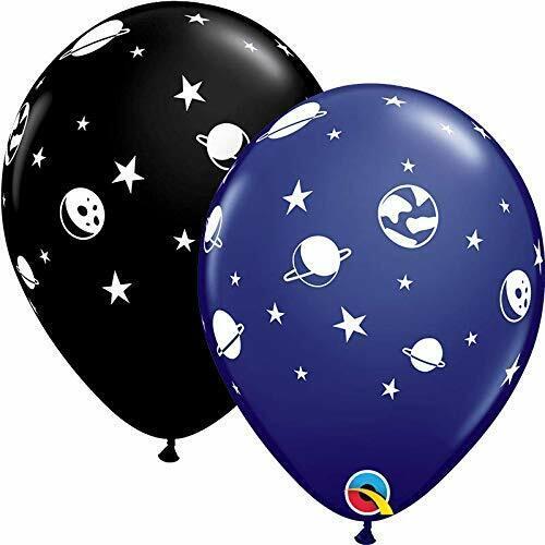 """11/"""" Globos Helio Calidad Espacio Planetas Cumpleaños Decoración Fiesta Negro Azul"""