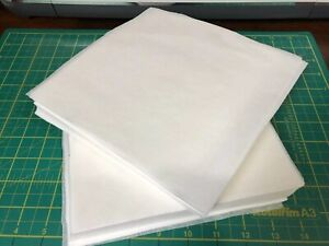 100 x White Pre Cut Squares Heavyweight Embroidery Stabiliser Backing Cut Away