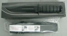 KA-BAR KNIFE 1214 BLACK RUBBER HANDLE SERRATED KYDEX SHEATH USA MADE NEW KABAR