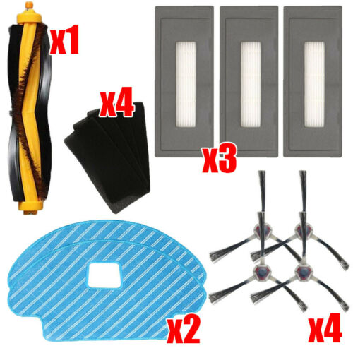 Main /& Side Brush Filters Sweeper Kit For Ecovacs Deebot OZMO 930 Accessories