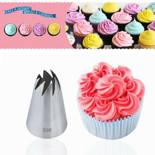 UK #336  Icing Piping Nozzles Stainless Steel Baking Mold Russian Ice Cream Tool