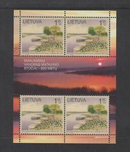 Lithuania - 2011, Water Measuring Station sheet - MNH - SG 1035