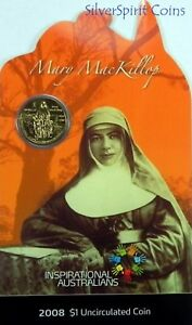 2008-INSPIRATIONAL-AUSTRALIANS-MARY-McKILLOP-Coin-on-Card