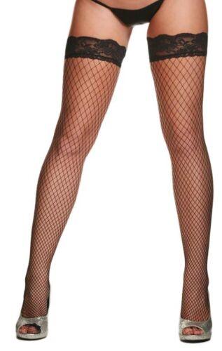 Exotic Fence Net Thigh Hi Stockings Black