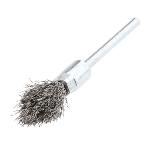Derusting 6mm Shank Stainless Steel Pen Wire Brush Metal Surface Cleaning