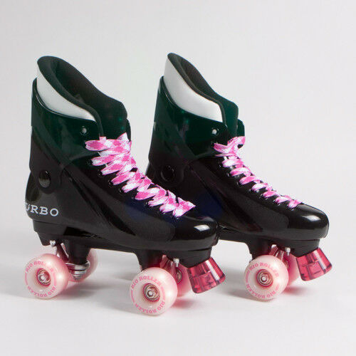 Flashing Ventro Pro Turbo Quad Roller Skate, Bauer Style - Light Up Wheels Disco