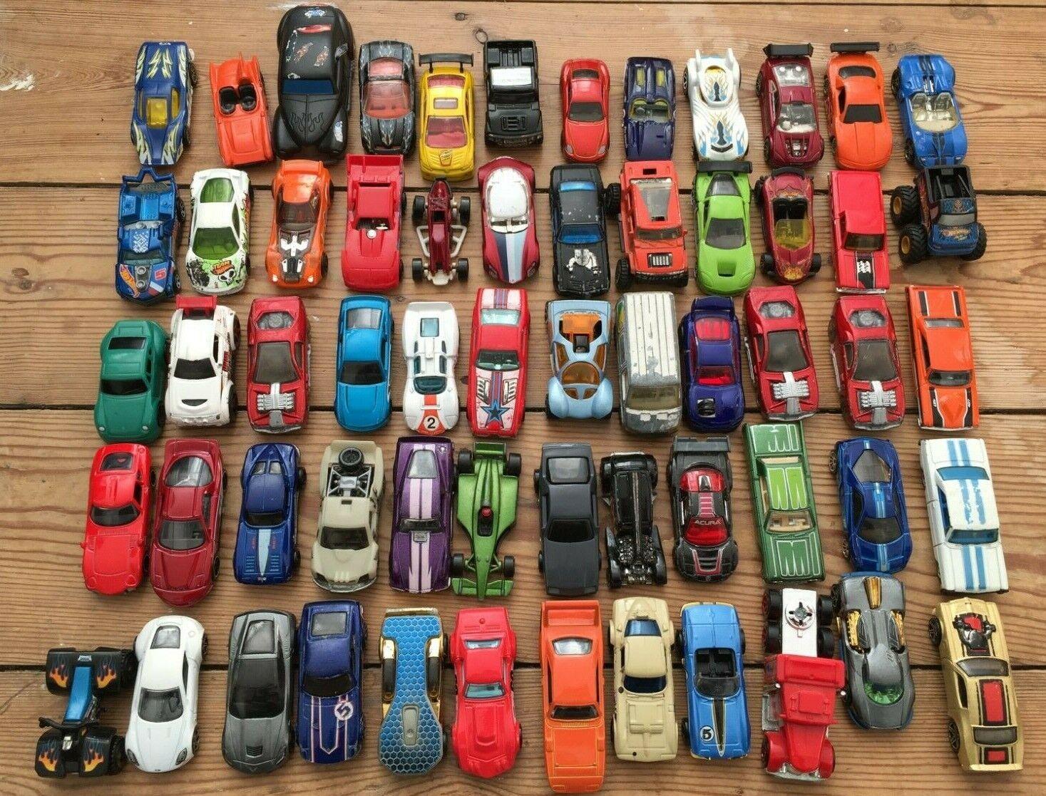 60x Bundle Job Lot Hot Wheels Die Cast Cars