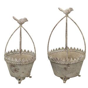 Vaso per Piante Guida Rango Squallido 2 Misure Gabbia per Uccelli Gigli Metallo