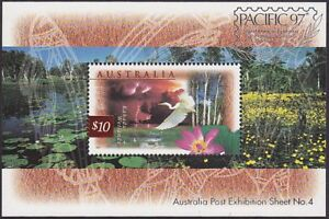 1997-10-KAKADU-MINATURE-SHEET-WITH-PACIFIC-1997-OVERPRINT-MINT-UNHINGED