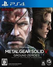 PS4 METAL GEAR SOLD V GROUND ZEROS MGS Japan ver. F/S J7755