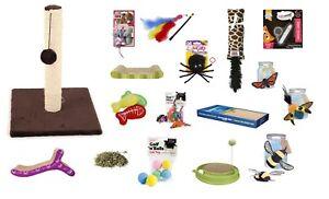 CAT-TOYS-Catnip-Scratch-Post-Board-Laser-Pen-Kong-Rat-Dangle-Mice-Fish-Balls