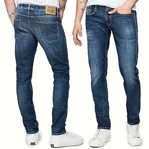 REPLAY-jeans-da-uomo-modello-anbass-slim-pantalone-vintage-ed-elasticizzato-M914