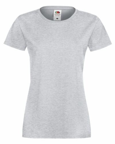 Fruit Of The Loom Lady-Fit Sofspun® T-Shirt Womens short sleeve top XS to 2XL