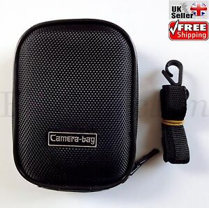 Black-Compact-Universal-Hard-Shell-Zip-Case-For-Small-Digital-Camera-Sony-Canon