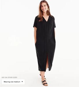 8609d822f8b BNWT NEW J.CREW x Universal Standard made BLACK Cupro tunic Dress ...